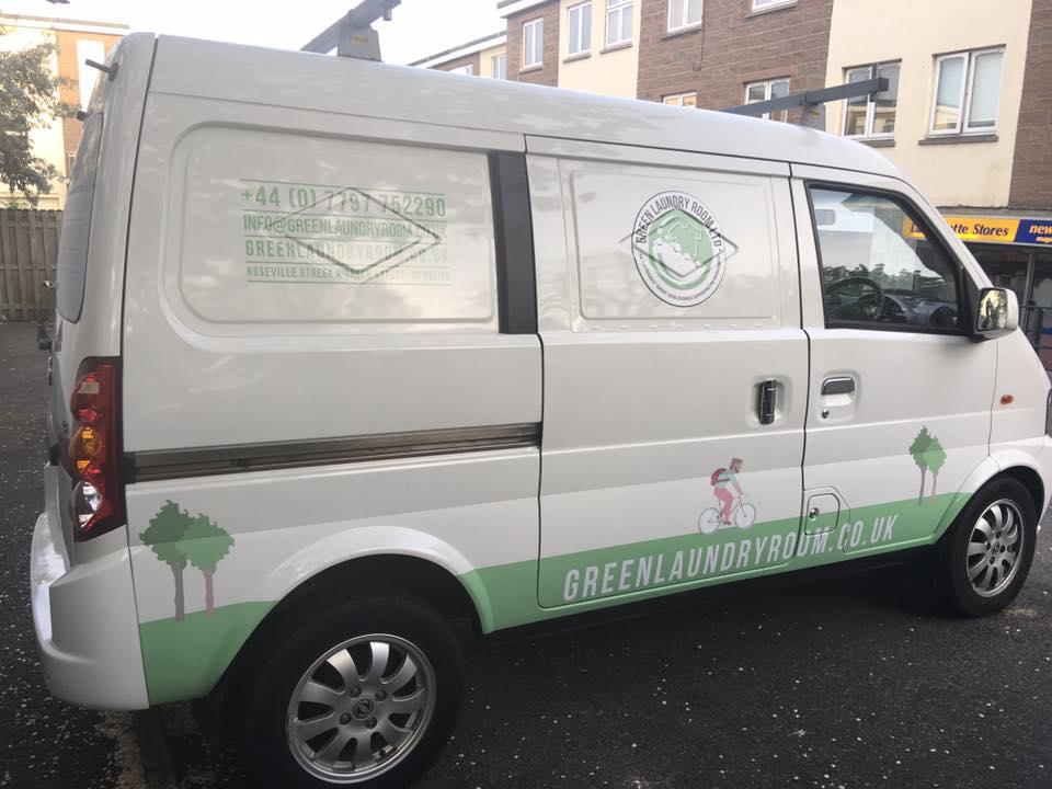The Green Laundry Room's New Green Van