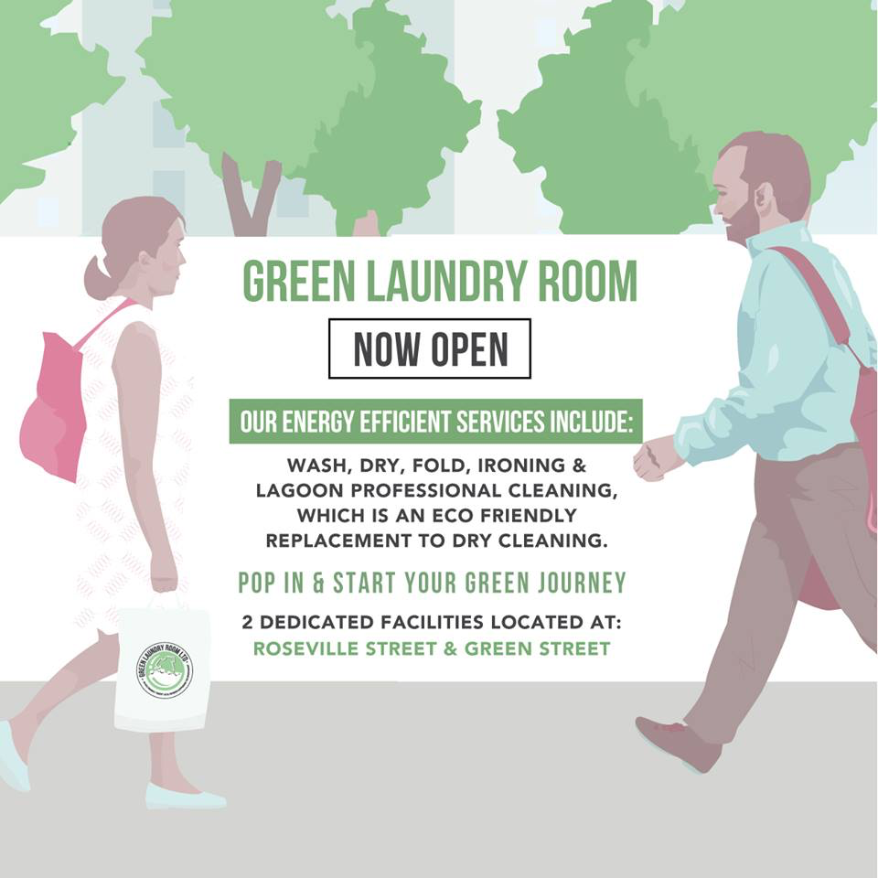 Green Laundry Room Opening